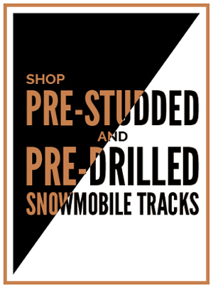 Shop Prestudded & Predrilled Snowmobile Tracks