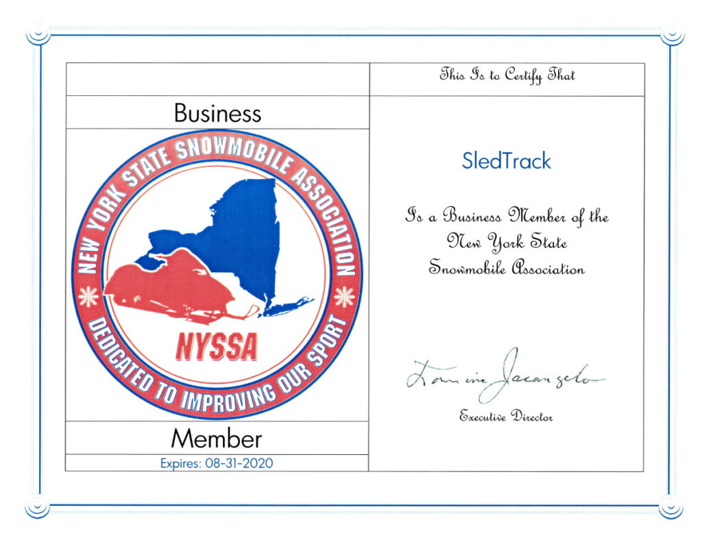 New York State Snowmobile Association Business Member 2020